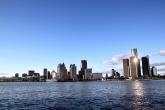 Blick auf Detroit