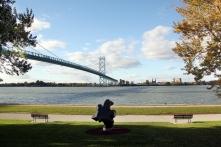 Über die Ambassador Bridge in die USA